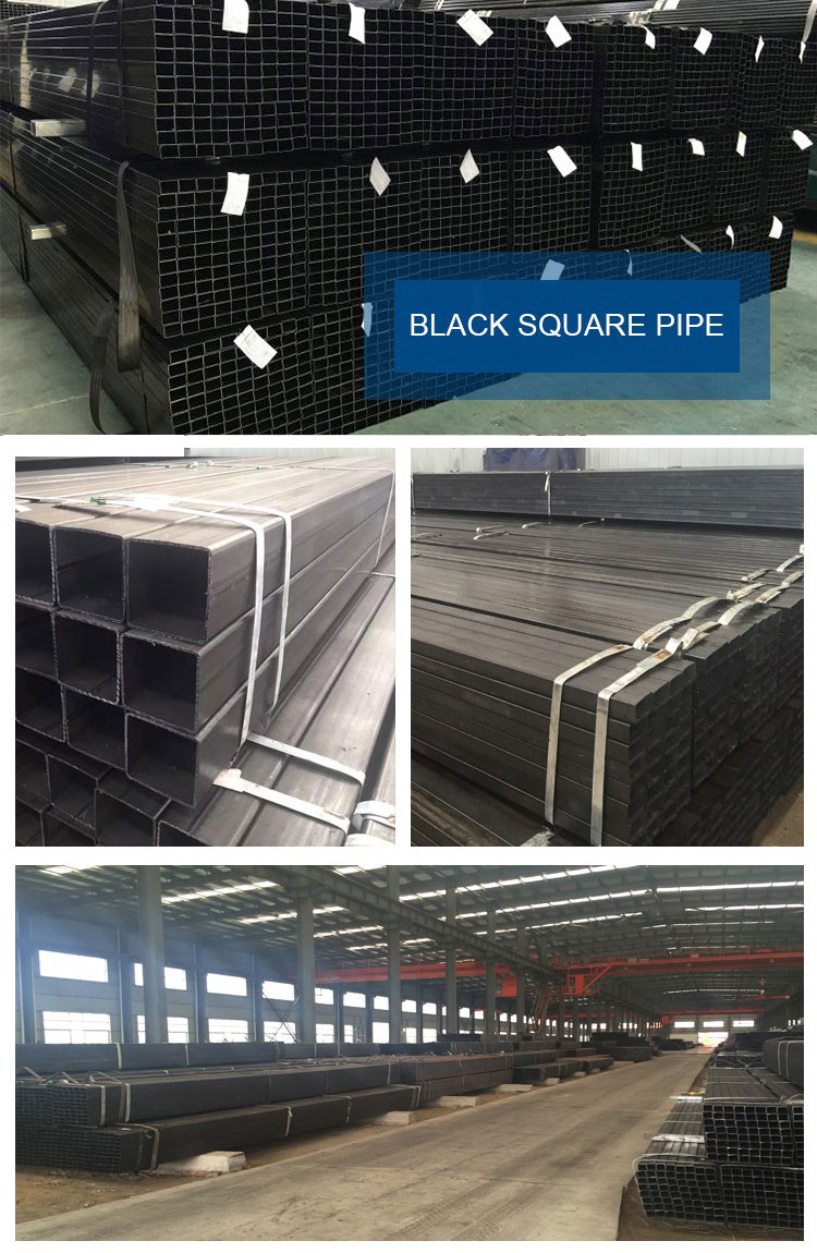 MS Black Square Steel Pipe For Construction Building
