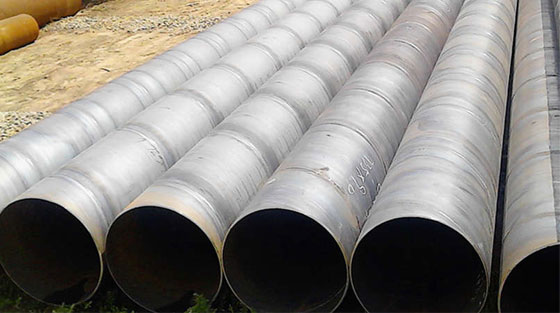 Production process of spiral pipe