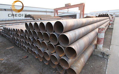 Production process of large diameter welded pipe
