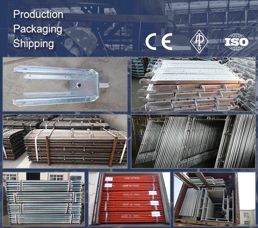 EN741004 Galvanized H Frame Ladder Frame Scaffolding