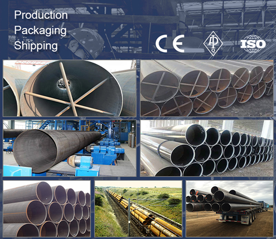 LSAW Steel Pipe EN 10217 EN10210