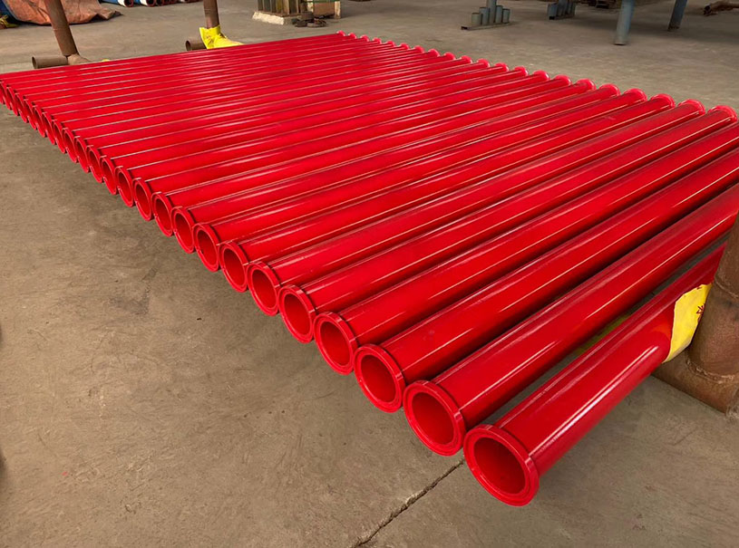 Fire Pipe Red Paint ASTM A795 ERW Steel Pipe