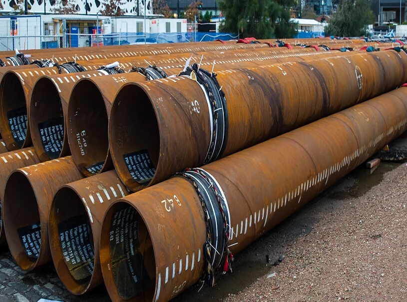 Pipe Piling ASTM A252 EN10219 SSAW SAWH Steel Pipe